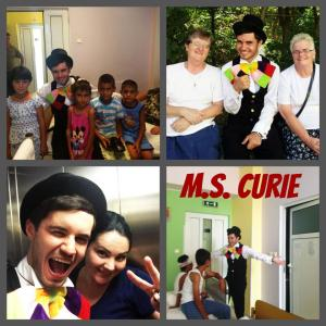 we bring nothing new ... we (volunteers) just try to make children smile during hospitalization